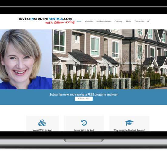 investinstudentrentals.com web site screenshot