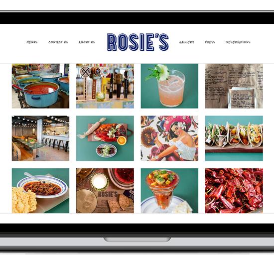 Rosie's New York website screenshot
