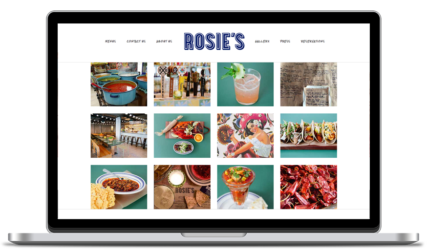 Rosie's New York website screenshot