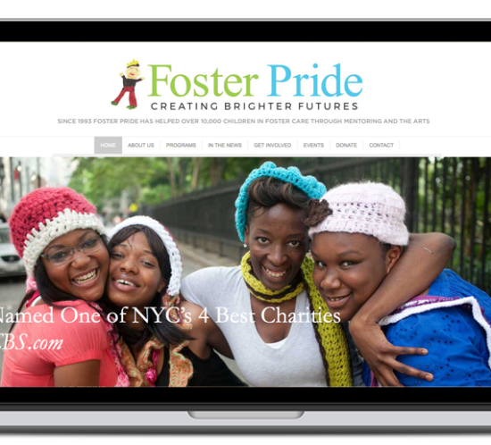foster pride website screenshot