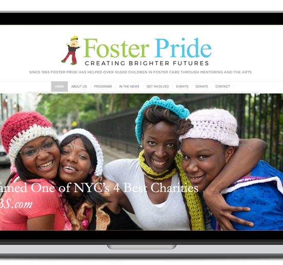 foster pride website screenshot