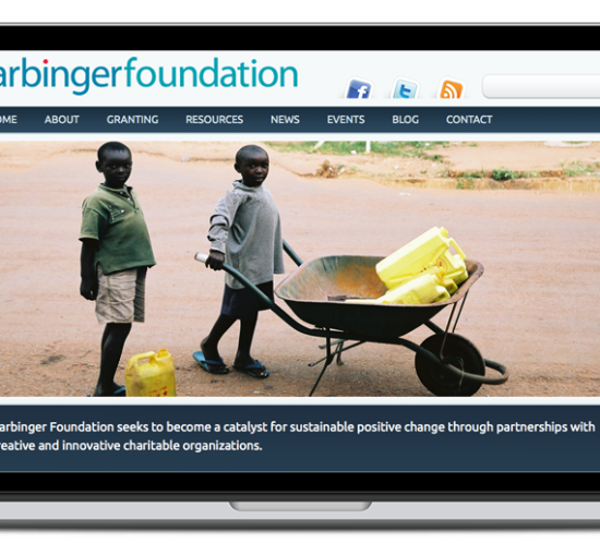 harbinger foundation website screenshot