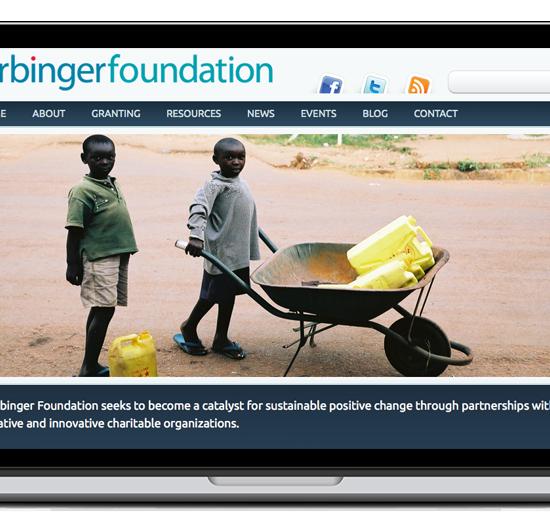 harbinger foundation website screenshot